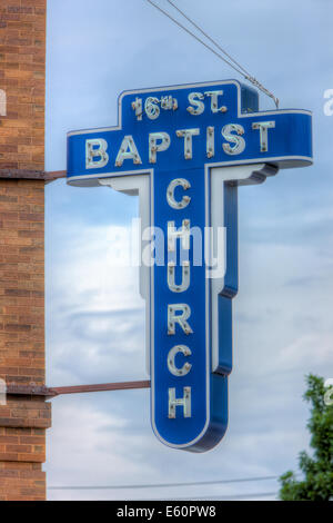 The 16th Street Baptist Church was the site of the racially motivated bombings in 1963 in Birmingham, Alabama. - Stock Photo