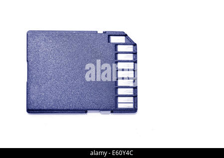 Memory card - Flash card against white background.copy space. (BW) - Stock Photo