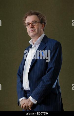 Edinburgh, UK. 10th Aug, 2014. Sir Jonathan Mills, the outgoing Director of the Edinburgh International Festival - Stock Photo