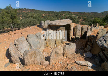 Dolmens of El Pozuelo- betwen 2500-2200 BC, Zalamea La Real. Huelva province, Region of Andalusia, Spain, Europe - Stock Photo