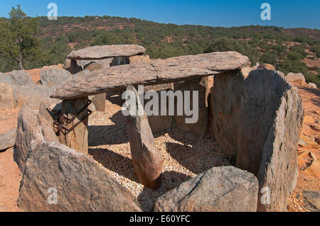 Dolmens of El Pozuelo - betwen 2500-2200 BC, Zalamea La Real. Huelva province, Region of Andalusia, Spain, Europe - Stock Photo
