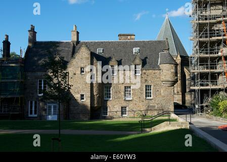 Old Coates House at the Episcopal Cathedral of St. Mary the Virgin, Edinburgh - Stock Photo