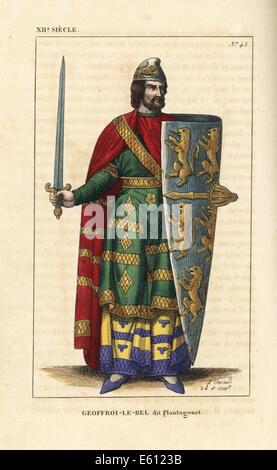Geoffrey V, Plantagenet, Count of Anjou, 1113-1151. - Stock Photo