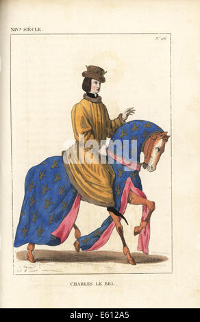 Charles IV the Fair, King of France, 1294-1328. - Stock Photo
