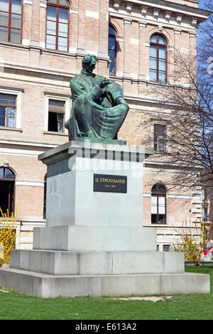 Statue of Bishop Strossmayer by Ivan Mestrovic, Located in Park behind Croatian Academy of Sciences and Arts, Zagreb, - Stock Photo
