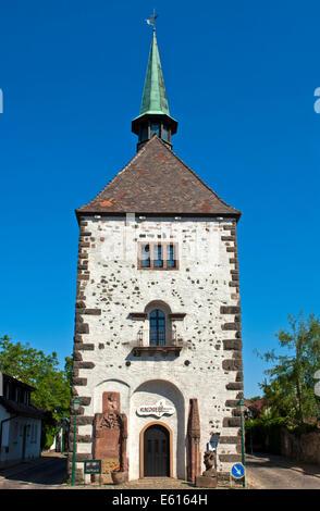 Radbrunnenturm tower, Breisach am Rhein, Baden-Württemberg, Germany - Stock Photo