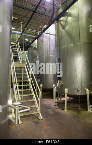 manufacturing plant inside - Stock Photo