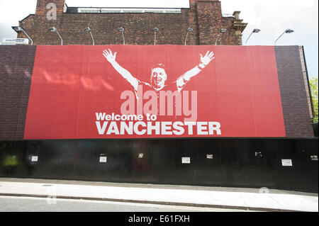 Welcome to Vanchester. Manchester. August 2014. - Stock Photo
