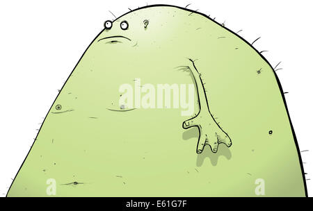 Illustration of a slightly older and much fatter lagoon creature. - Stock Photo