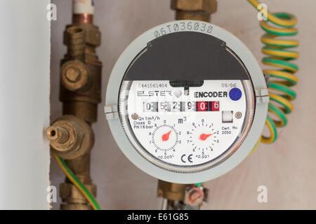 Domestic UK water meter - Stock Photo