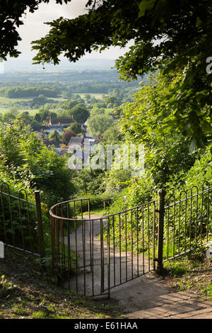 UK England, Dorset, Shaftesbury, Castle Hill, path to Enmore Green - Stock Photo