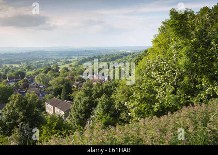 UK England, Dorset, Shaftesbury, elevated view north from Castle Hill - Stock Photo