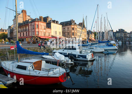 The Harbour at Honfleur, Normandy France Europe - Stock Photo