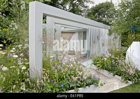 Garden of Solitude at RHS Hampton Court Palace Flower Show 2014 - Stock Photo