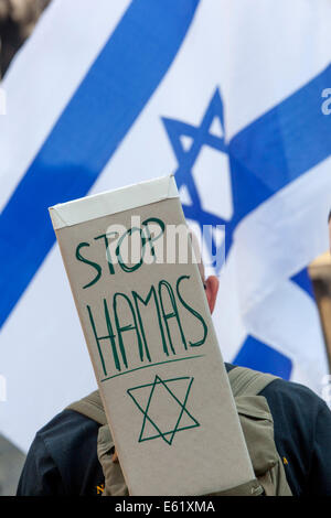 Demonstration in support of Israel, Prague Czech Republic - Stock Photo