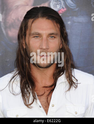 Los Angeles, California, USA. 11th Aug, 2014. Zach McGowen attending the Los Angeles Premiere of '' The Expendables - Stock Photo