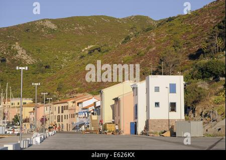 Capraia island (Tuscan Archipelago, Italy), the Port village - Stock Photo