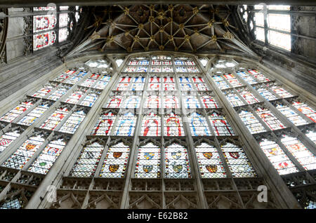 Magnificent East Window, Gloucester Cathedral - Stock Photo