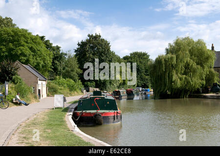 Kennet and avon canal taken at Bradford on Avon, Wiltshire, England, uk - Stock Photo