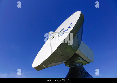 Satellite dish, Raisting Satellite Earth Station, ground station, satellite communications, Upper Bavaria, Germany, - Stock Photo