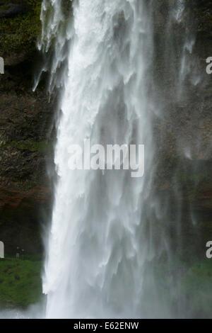 Seljelandsfoss Waterfall Iceland LA007418 - Stock Photo