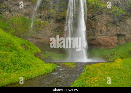 Seljalandsfoss Waterfall Iceland LA007449 - Stock Photo