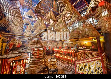 Man Mo Temple in Hong Kong, China. - Stock Photo