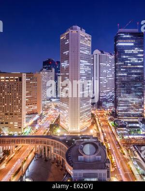 Tokyo, Japan cityscape in Shinjuku Ward. - Stock Photo