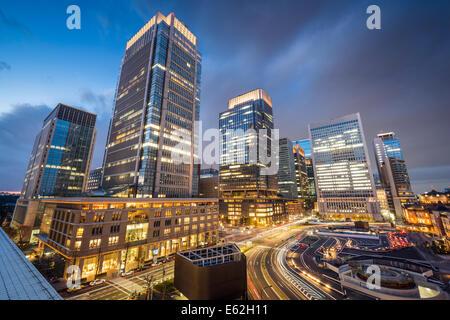 Tokyo, Japan at Marunouchi business district. - Stock Photo