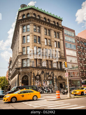 The 1898 landmark former Germania Bank Building on the corner of the Bowery and Spring Street in New York - Stock Photo