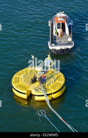 Floatex Floating Buoy Anchored To Sea Bed Used For