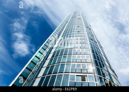 St George Wharf Tower also known as the Vauxhall Tower in London, England -  the tallest solely residential building - Stock Photo