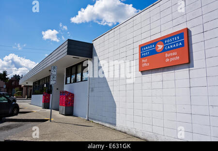 Canadian Post Office in Coquitlam, British Columbia.  Canada Post building exterior. In suburbs of Vancouver. - Stock Photo