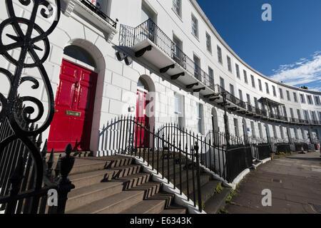 Royal Crescent, Cheltenham, Gloucestershire, England, United Kingdom, Europe - Stock Photo