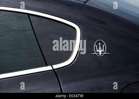 Maserati Logo And Emblem Of Trident On A Car Stock Photo 64672297