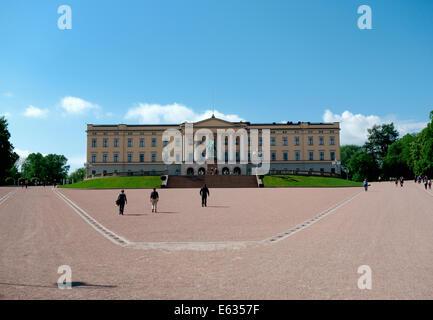 The Royal Palace Oslo Norway - Stock Photo