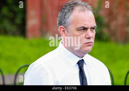 Belfast, Northern Ireland. 13 August 2014. Paul Duffy attends the paramilitary funeral of veteran IRA volunteer - Stock Photo