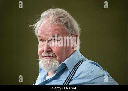 Edinburgh, Scotland, UK, 13th August 2014. Scottish writer and artist, Alasdair Gray, appearing at the Edinburgh - Stock Photo