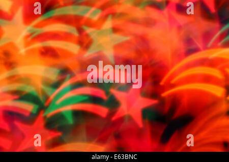 Shooting stars abstract lights motion blur. Colorful festive background. - Stock Photo