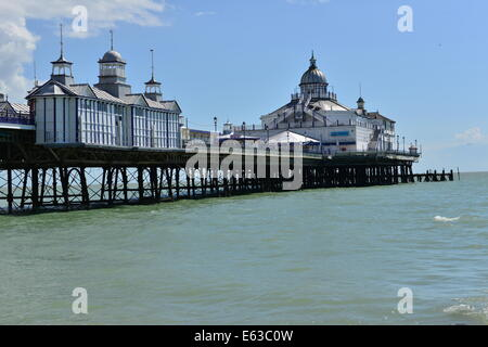 Eastbourne Pier after the Fire of 2014 - Stock Photo