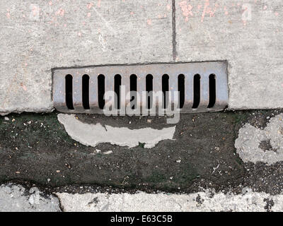 The drain side of the road - Stock Photo