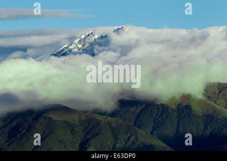 Los Alters Volcano In Ecuador Shot From Air - Stock Photo