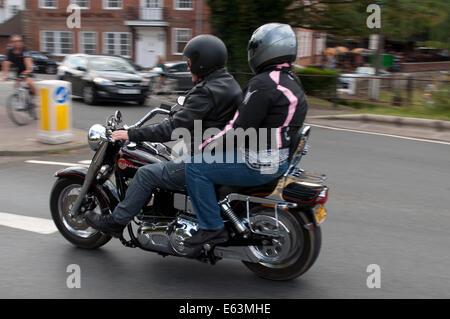 Harley-Davidson motorcycle, Stratford-upon-Avon, UK - Stock Photo