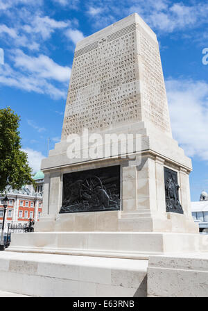 The Guards Memorial at Horseguards Parade, London, dedicated to the five Foot Guards Regiments of the Great War - Stock Photo