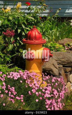 Fire Hydrant, Downtown Wiscasset, Maine, USA - Stock Photo