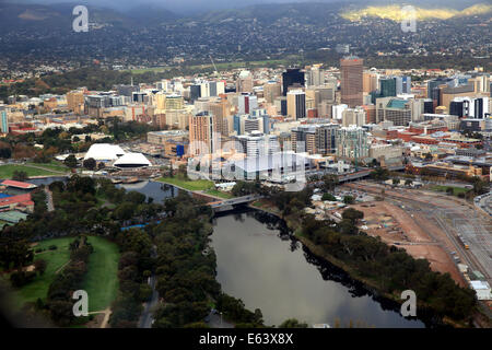Aerial view of the city of Adelaide in Australia - Stock Photo