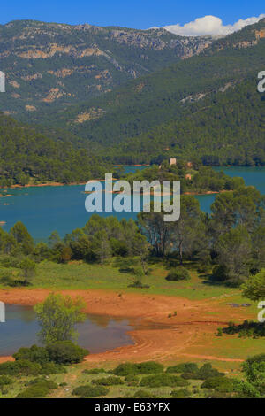 Reservoir of Tranco, El Tranco dam, Sierra de Cazorla Segura and Las Villas Natural Park, Jaen province, Andalucia, - Stock Photo