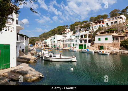 Fishing harbour of Cala Figuera, Majorca, Balearic Islands, Spain - Stock Photo