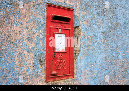 Old Post Box Mathry Pembrokeshire Wales - Stock Photo