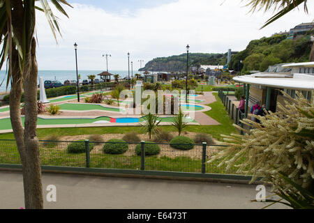 Shanklin seafront Isle of Wight England UK east coast of the island on Sandown Bay with sandy beach - Stock Photo